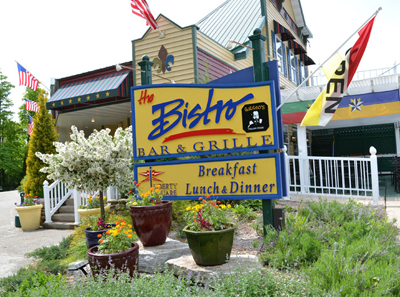 Bistro Bar and Grill Sign in Egg Harbor Wi