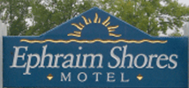 Ephraim Shores Resort sign