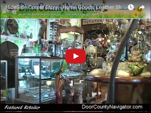 Hideside corner store home goods leather shop door for Quirky home goods