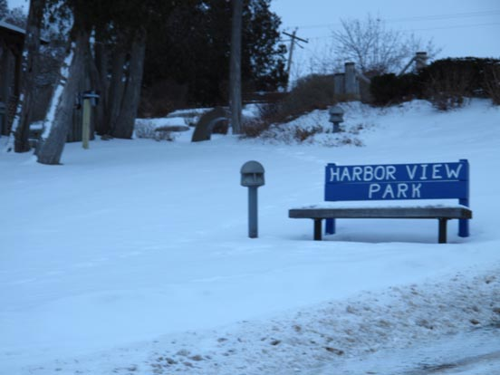 Harbor View Park Winter