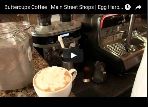 Buttercups Coffee Main Street Shops Egg Harbor Door