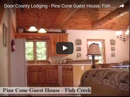 Door county pine cone guest house fish creek review for Door county lodging fish creek